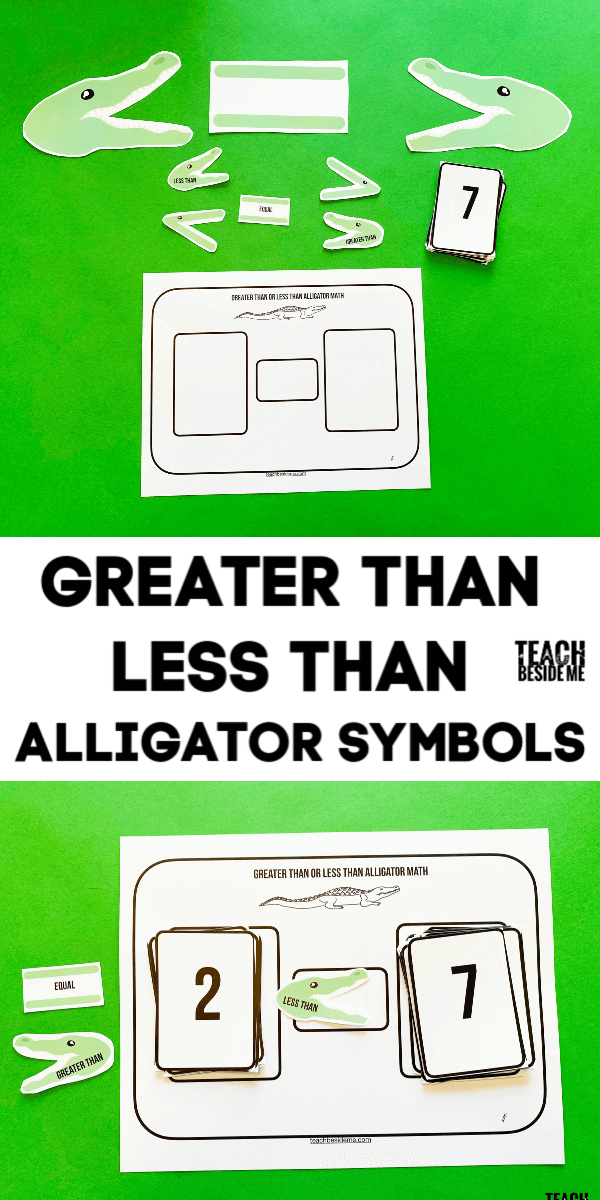 Greater Than Less Than Symbols With Alligators Teaching Math Addition Games Fun Math