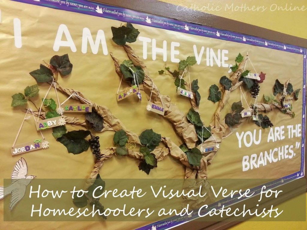 Christian easter bulletin board ideas - I Am The Vine Bulletin Board Activity Catholic Mothers Online Catholic Catechist