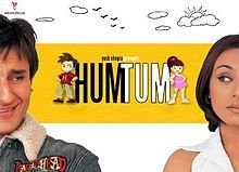 Hum Tum (2004) I mostly didn't like this story of how Peter Pan took FOREVER to grow up.  But I learned how to say 'you' and 'me' in Hindi and Rani Mukherjee wears a stunning peach sari just as Saif Ali Kahn dumps her so it wasn't a total loss.