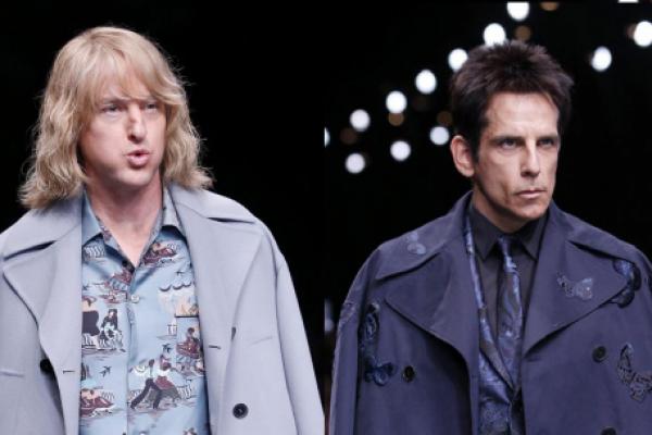 """Stiller y Wilson desfilan con sus personajes de """"Zoolander"""". Fotos: EFE"""
