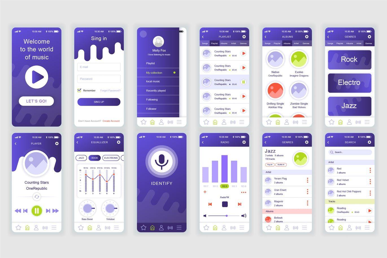 Pin On Mobile App User Interface Templates Mobile app ui design template