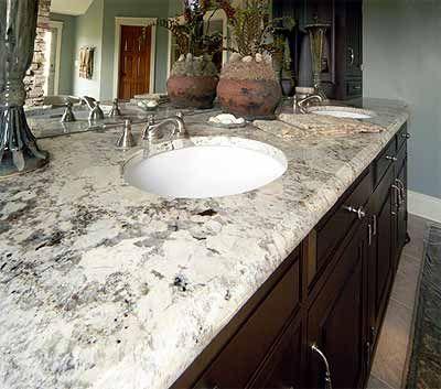 Delicatus Granite For The Kitchen And Bathroom The Loo - White ice granite kitchen bathroom countertops