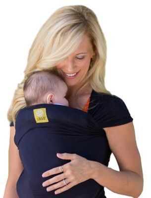 Lillebaby Lalla C Baby Tie The Knot Wrap Baby Carrier In Navy