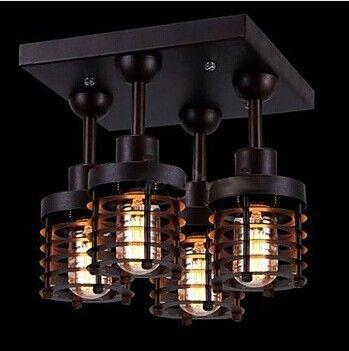 goedkope 4 lichten loft retro stijl edison lamp vintage
