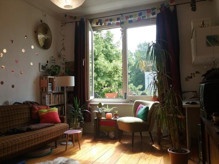 cooles wohnzimmer im retro.look einer hamburger wg #hamburg #wg ...
