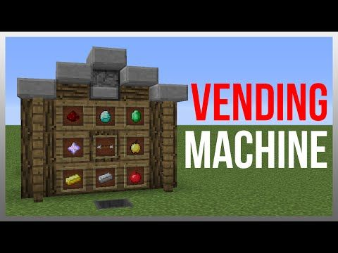 Minecraft 1 9 Redstone Tutorial Vending Machine V2