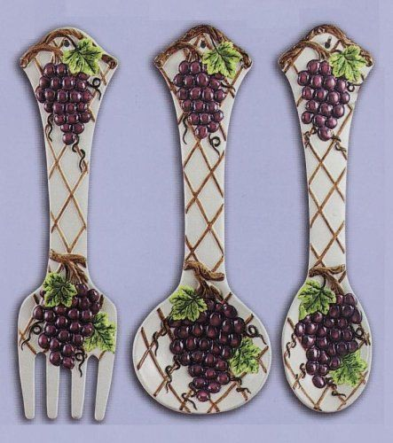 Grape Large 17 Spoon Fork Wall Decor Set New Kmc Kk Grape Http