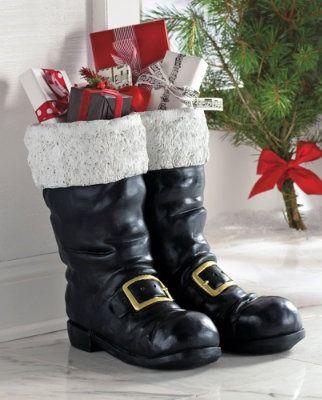 Oversized Santa Boots Grandin Road Christmas Boots Santa Boots Christmas Celebrations