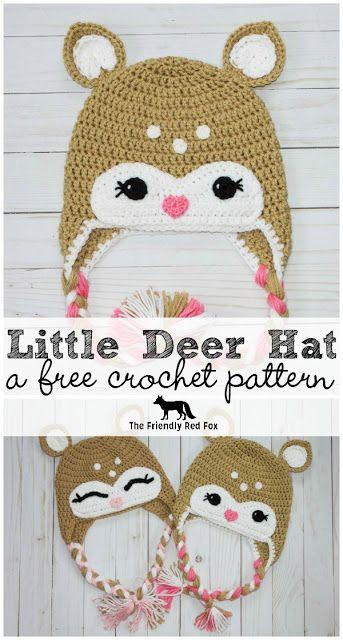 Free Crochet Little Deer Hat Pattern Blogger Crochet Patterns We