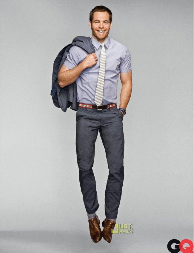Short Sleeve Shirt With Tie Looks Good On Chris Pine Lol