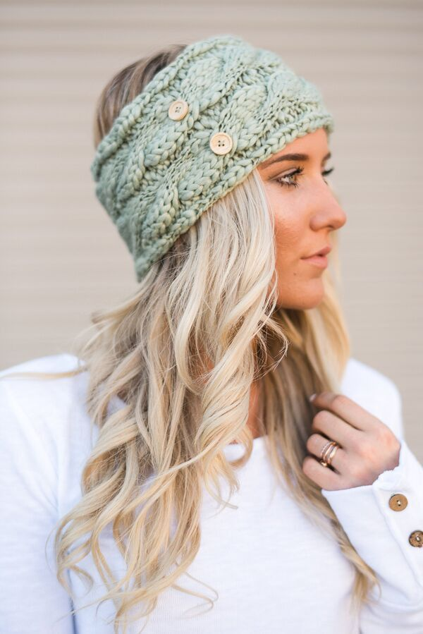 This chunky knit headband is the perfect way to keep your ears and ...