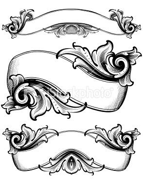 Scrollwork banners