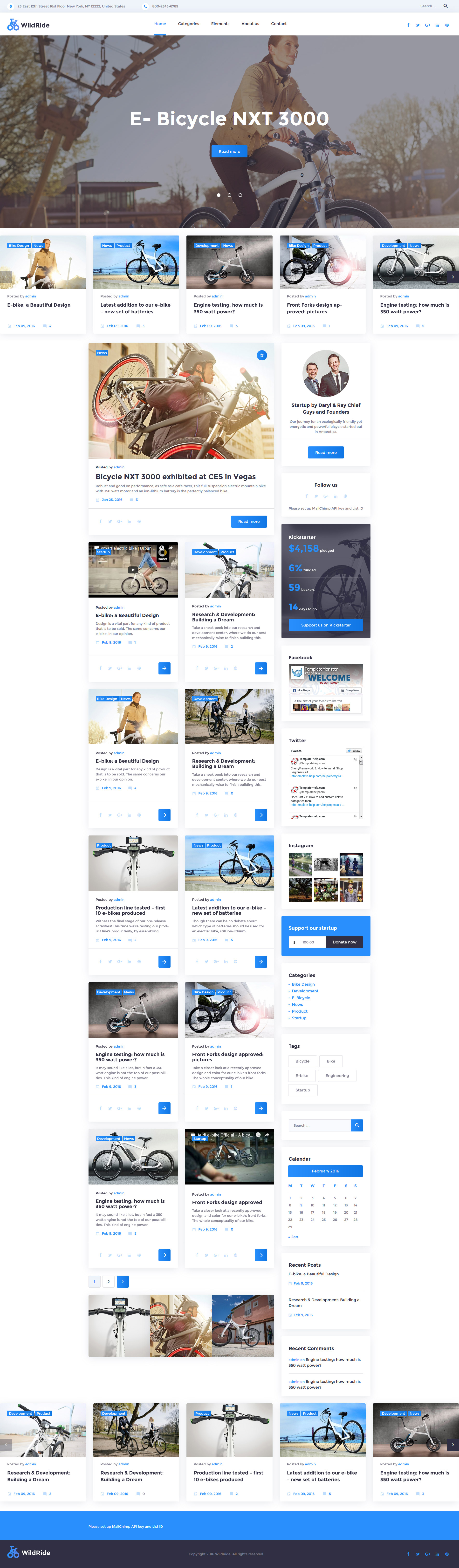Cycling Responsive WordPress Theme #58378 http://www.templatemonster.com/wordpress-themes/58378.html #theme #byke #sport #clean #grid