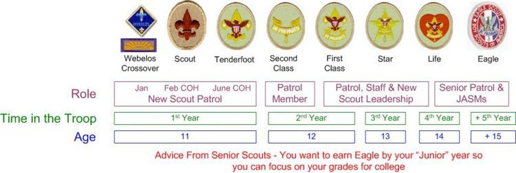 Boy scout rank advancement timeline here is  link to pdf file for you download time line also rh pinterest