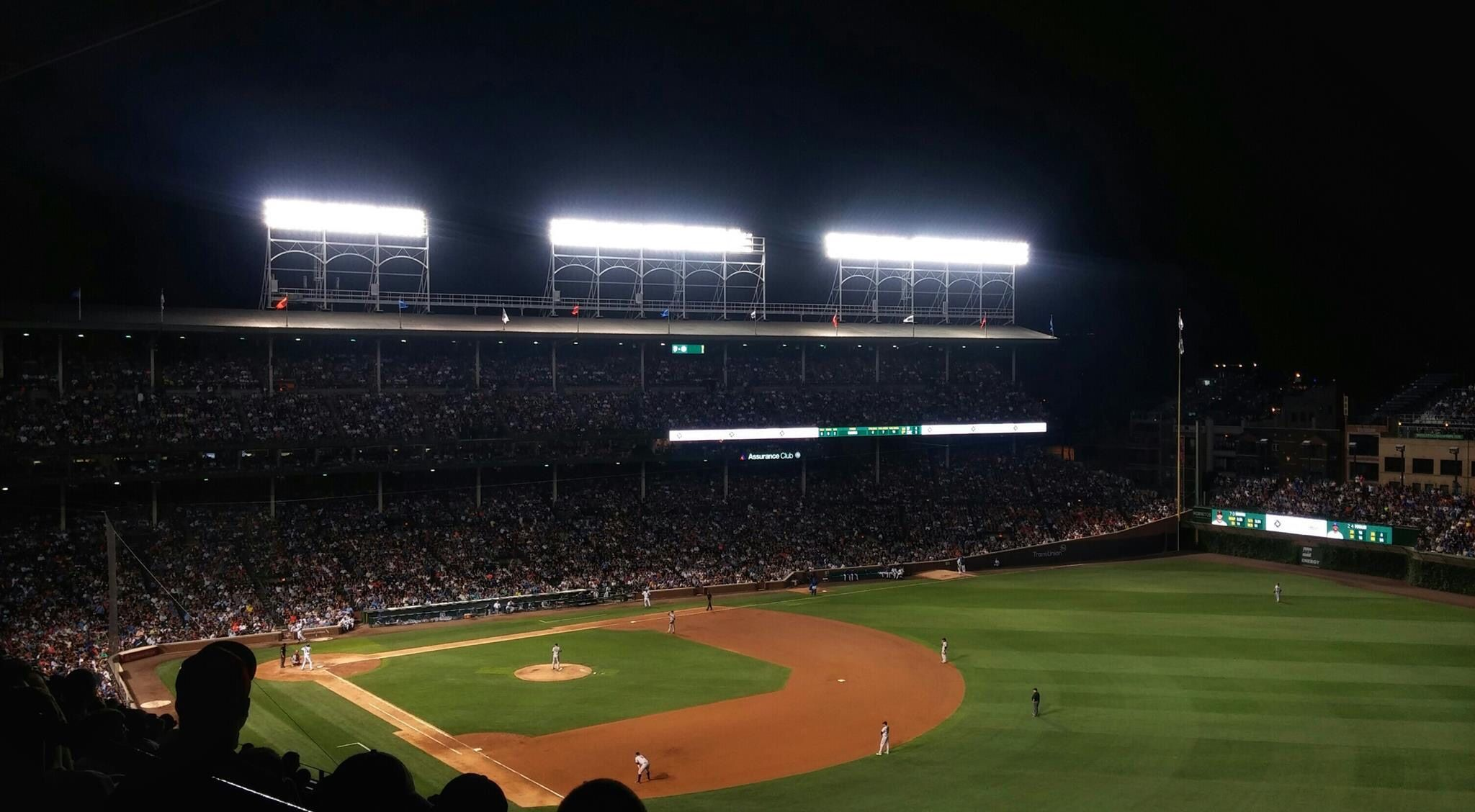 Wrigley Field at night Wrigley field, Cubs world series