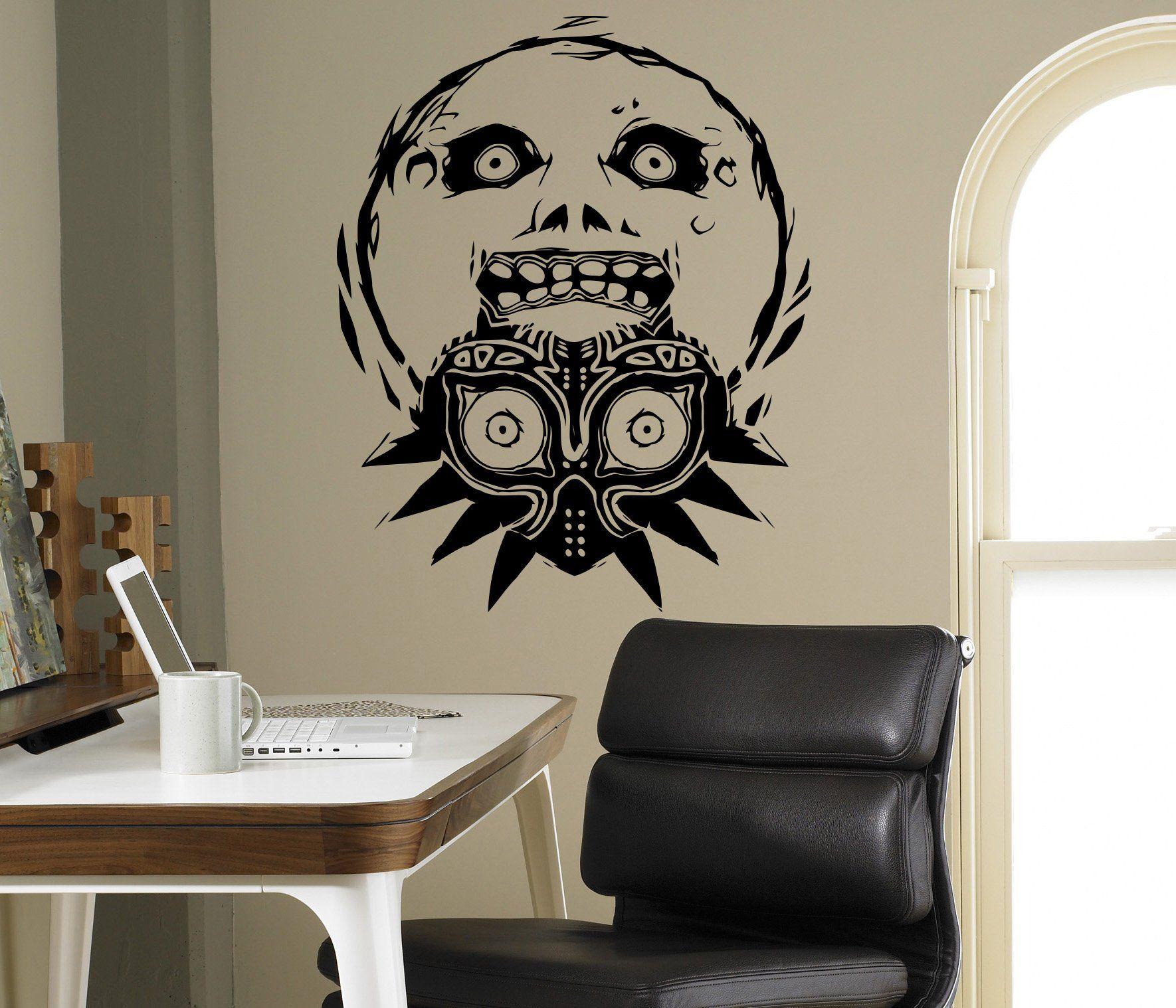 majora s mask princess zelda wall decal video game vinyl sticker majora s mask princess zelda wall decal video game vinyl sticker home interior living room decor door