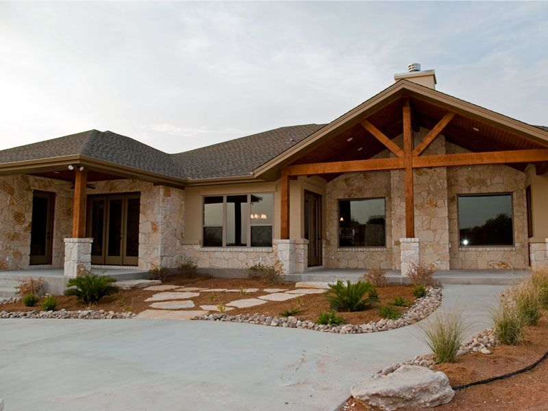 Stucco Exterior Ranch rock and stucco homes    granite counters all stone and stucco
