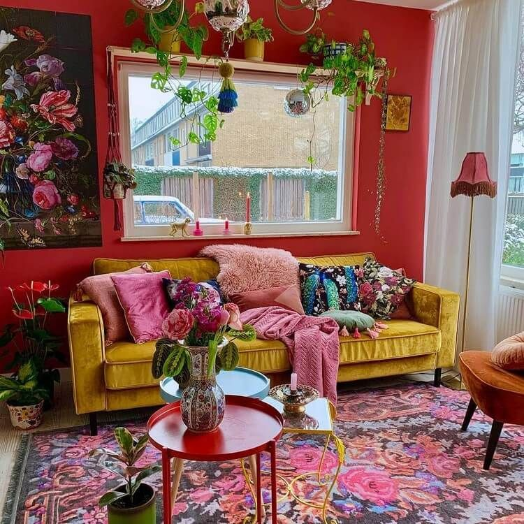 Bohemian Style Living Room Ideas   Colourful living room ...