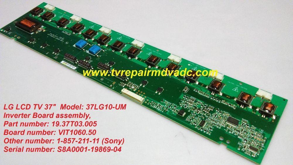 Details about Backlight Inverter VIT71060 50 19 37T03 005 LE37A456C