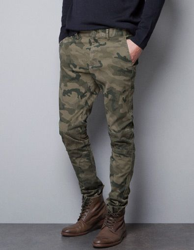 pantalon camouflage femme zara