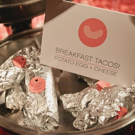 After working off dinner dancing, refuel guests with late-night breakfast tacos.
