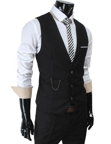 mens wedding/vest and tie | Mens Vest and Tie Suit | wedding ideas ...