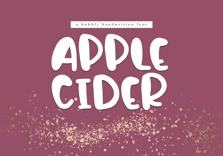 Apple Cider Ttf fonts, Fonts, Handwritten fonts