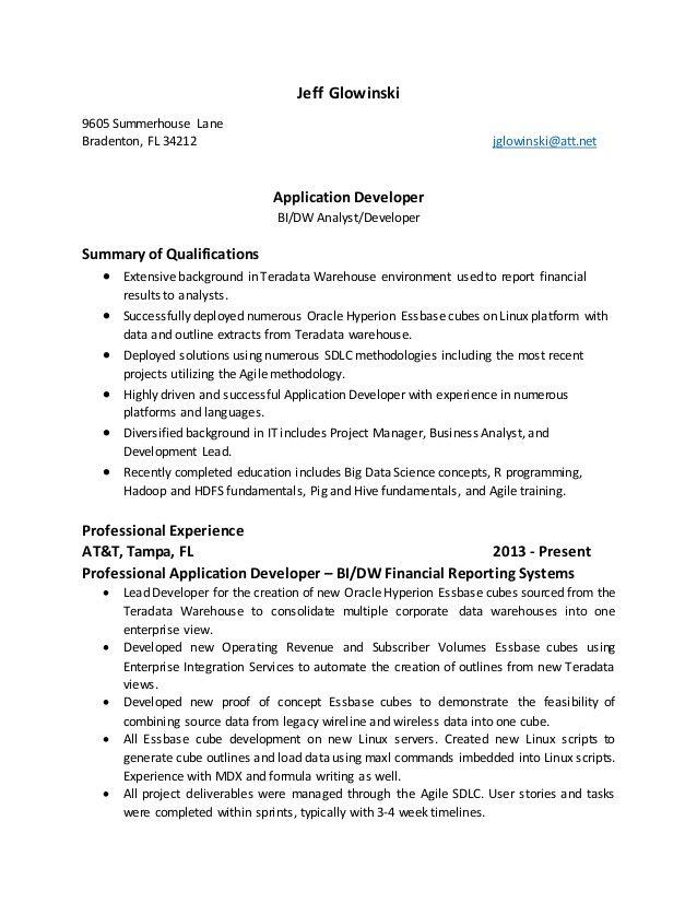 Developer Essbase Hyperion Resume - Best opinion Money and Fun