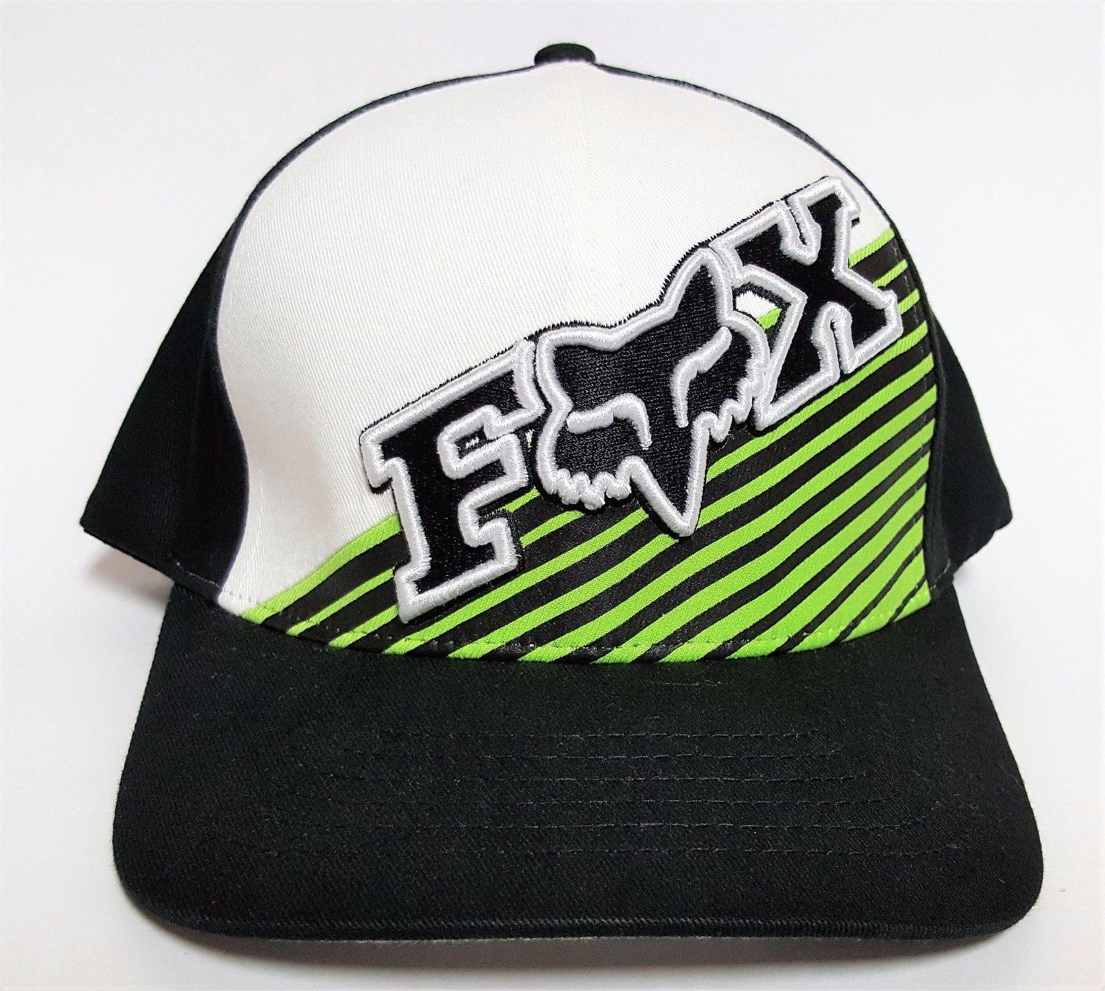 9e0fb94d3b2 Fox Racing Flexfit Hat Counteractive Black Green ( 30) Cap Mx Bmx Surf Moto