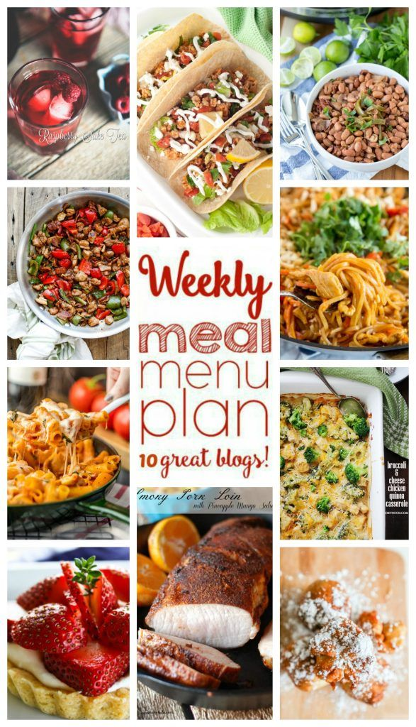 Weekly Meal Plan Week 38 - 10 great bloggers bringing you a full