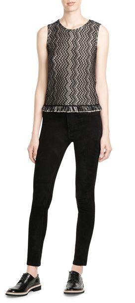 MISSONI  Fringed Sleeveless Top with Wool  | STYLEBOP.com