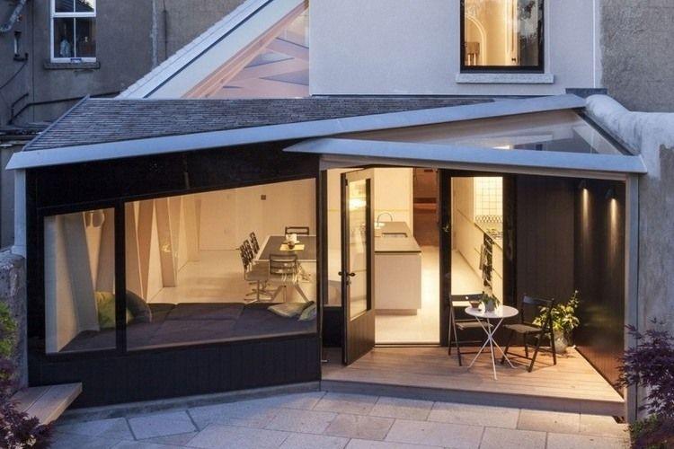 Extension de maison avec toit en verre en 20 idées d\u0027aménagement