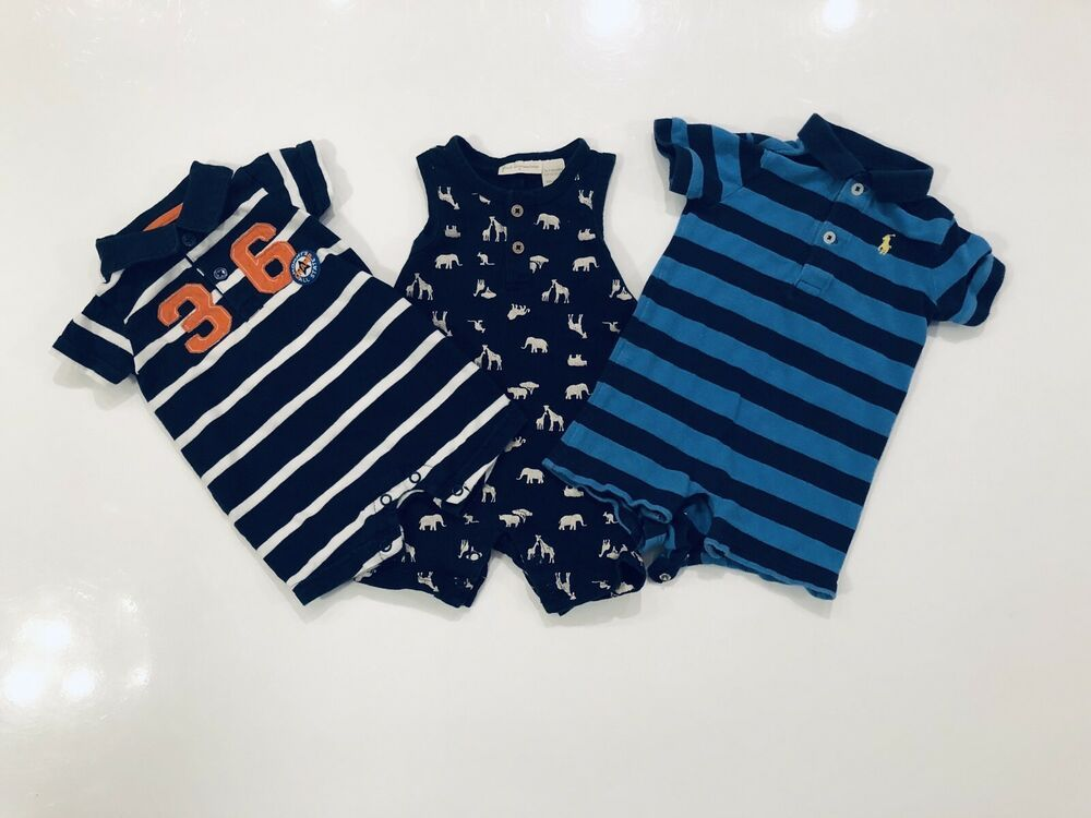 404126f8 Baby Boys Rompers Size 0-3 Months Ralph Lauren Carters First ...
