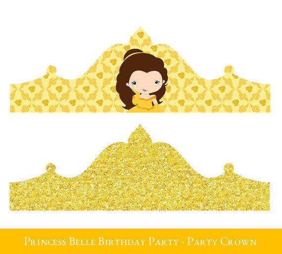 Belle Crown Printable, Birthday Crown, Crown Printable, Princess ...