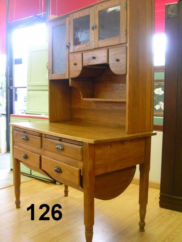 70126 Antique Possum Belly Bakers Cabinet Oak 1900 Bakers Cabinet Kitchen
