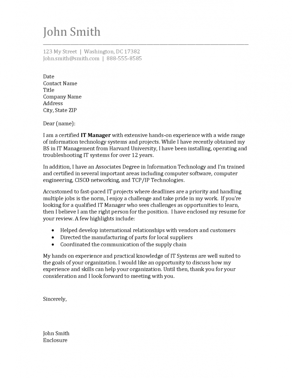 Cover Letter Sample Journal Suggested For Author Large Size Resume