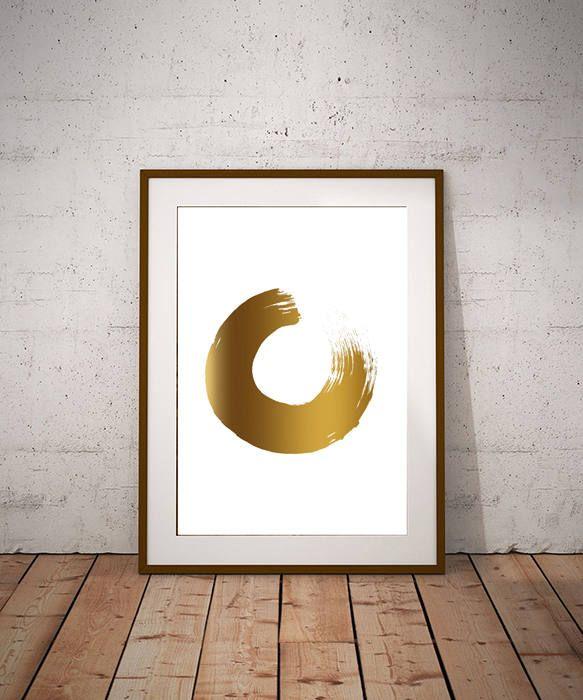 Minimalist Freehand Circle Brush Stroke Enso Printable Decor Vector Digital Print Wall Art Print Printable Poster Digital Download Wall Art Prints Art Prints Art