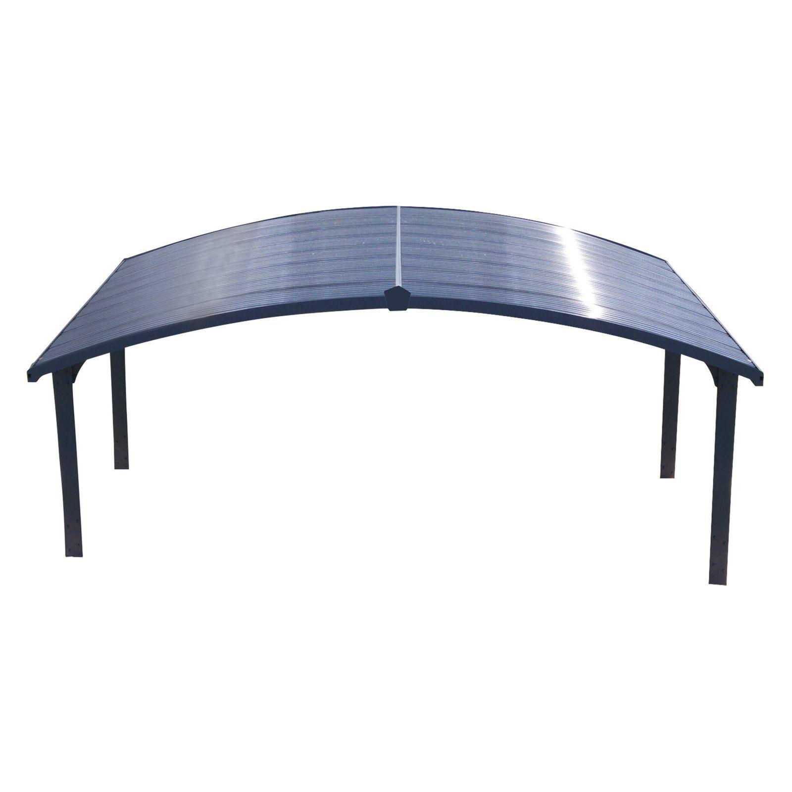 Palram Arizona Wave 19 X 16 Ft Arch Style Double Carport In 2020 Double Carport Carport Concrete Footings