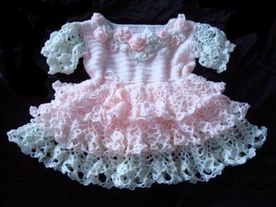 fancy crochet baby dress