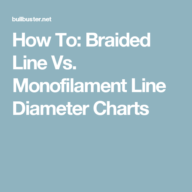 How To Braided Line Vs Monofilament Diameter Charts