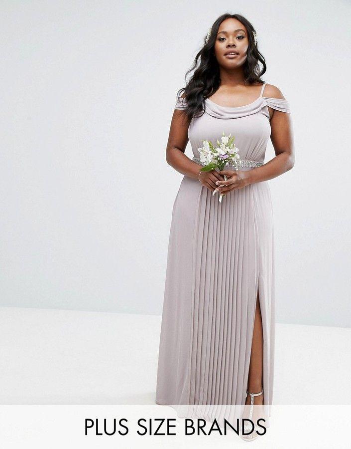 Plus size maxi bridesmaid dresses