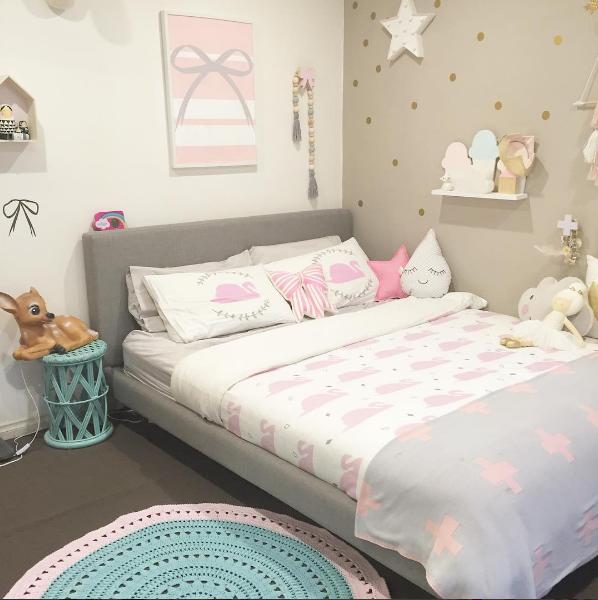 Habitaci n ni a colores pastel original y moderna - Dormitorio infantil original ...