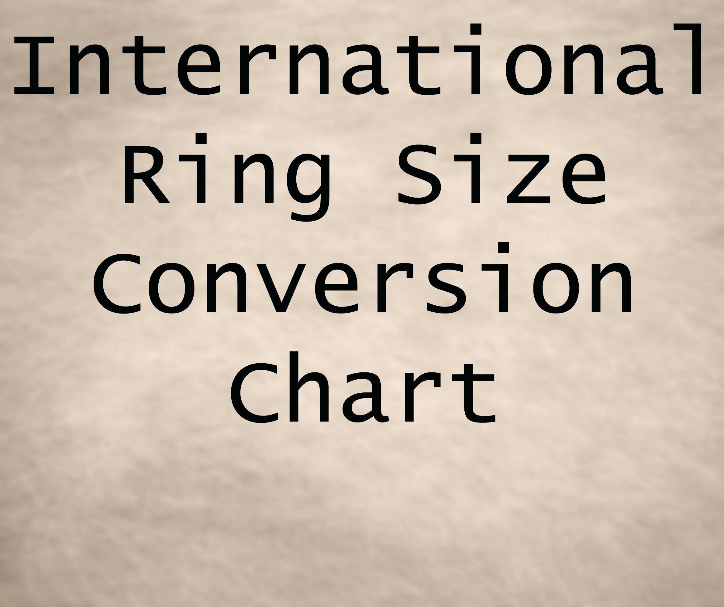 International ring size conversion chart brides guide pinterest international ring size conversion chart nvjuhfo Choice Image