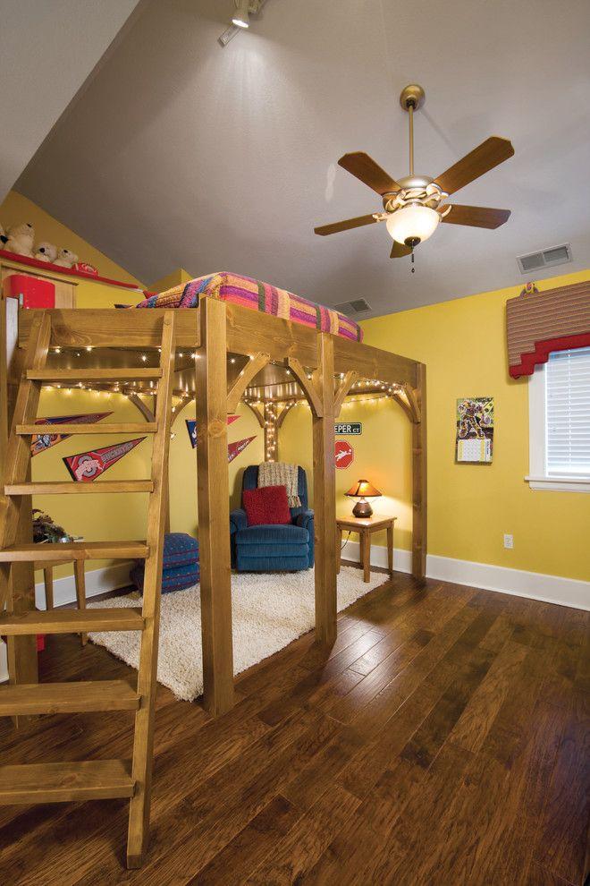 One Bedroom Cabin Plans Loft Bed Hardwood Floors Stair String - String lights for kids bedroom