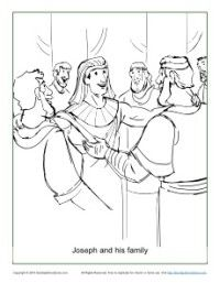 Joseph And His Family Coloring Page On Sunday School Zone Bible