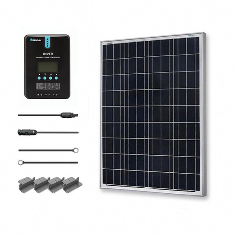 Renogy 100 Watt 12 Volt Polycrystalline Off Grid Solar Starter Kit With Mppt Charge Controller Solarpanels Solarenerg In 2020 12v Solar Panel Off Grid Solar Solar Kit