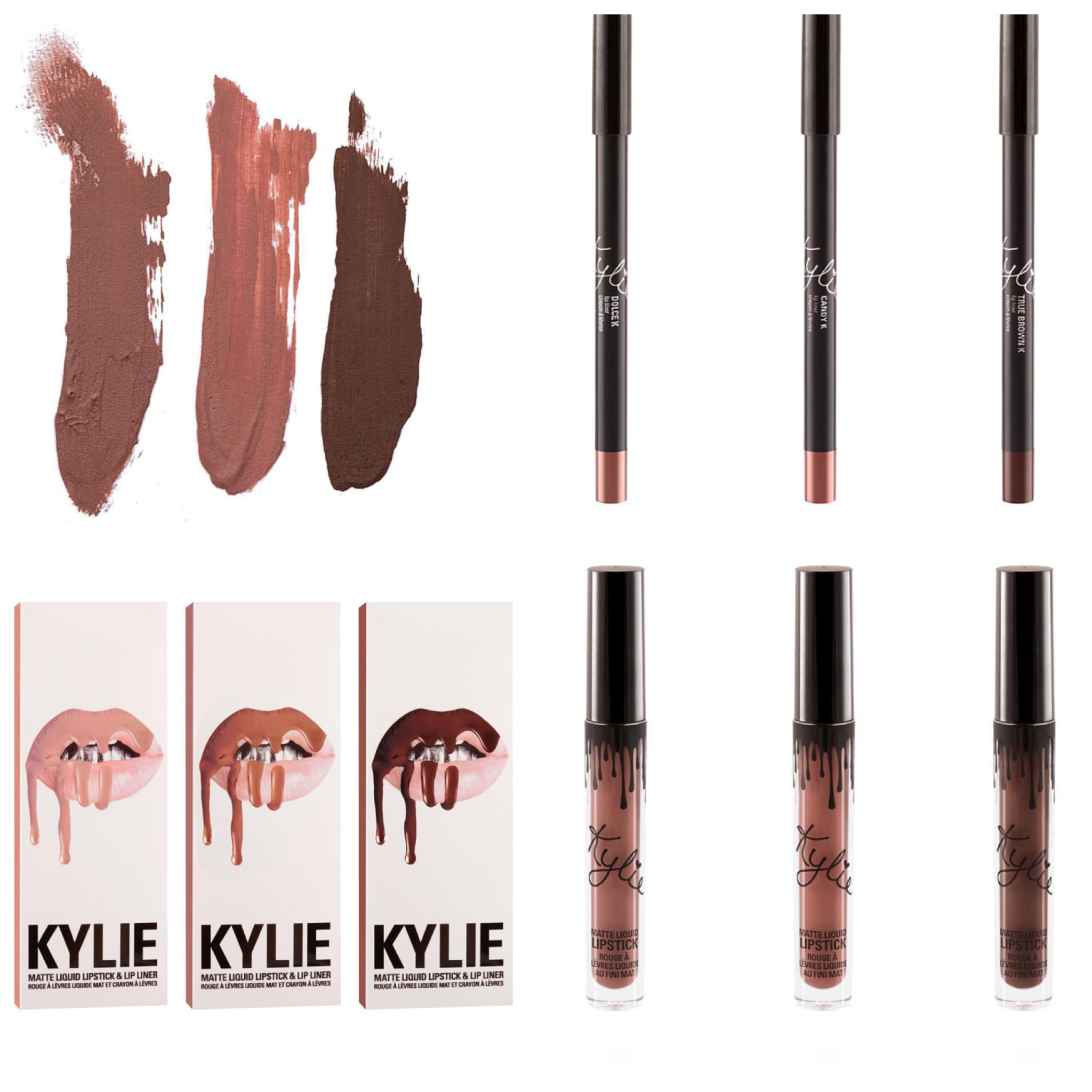 Kylie Jenner New Lipkit Dolce K Candy K True Brown K Want To Buy Not A Link To Site Just Want To Rem Kylie Jenner Lipstick Kylie Lip Kit Kylie Jenner Makeup