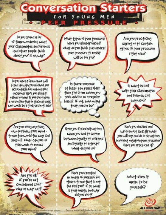 Peer Pressure Conversation Starters For Kids Conversation Starters Parenting