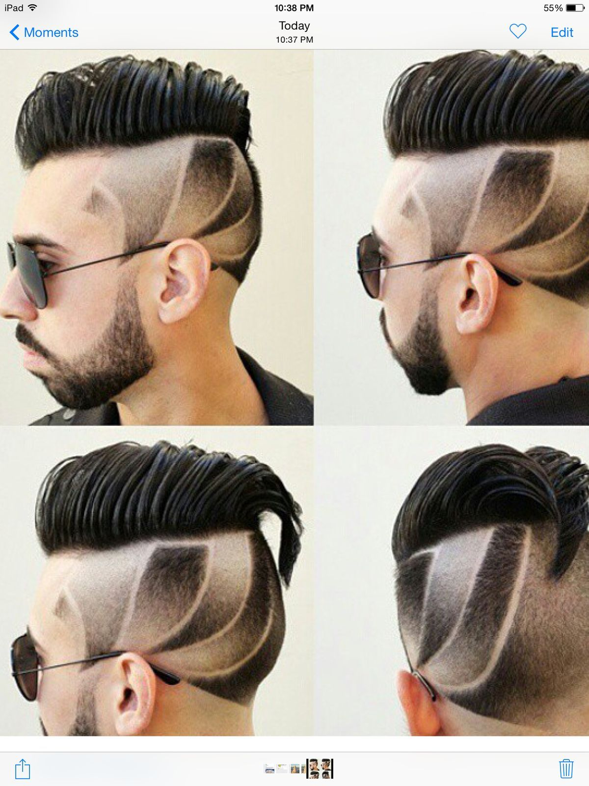Haircuts for men with designs classic menus haircut with part an faded designs  haircuts