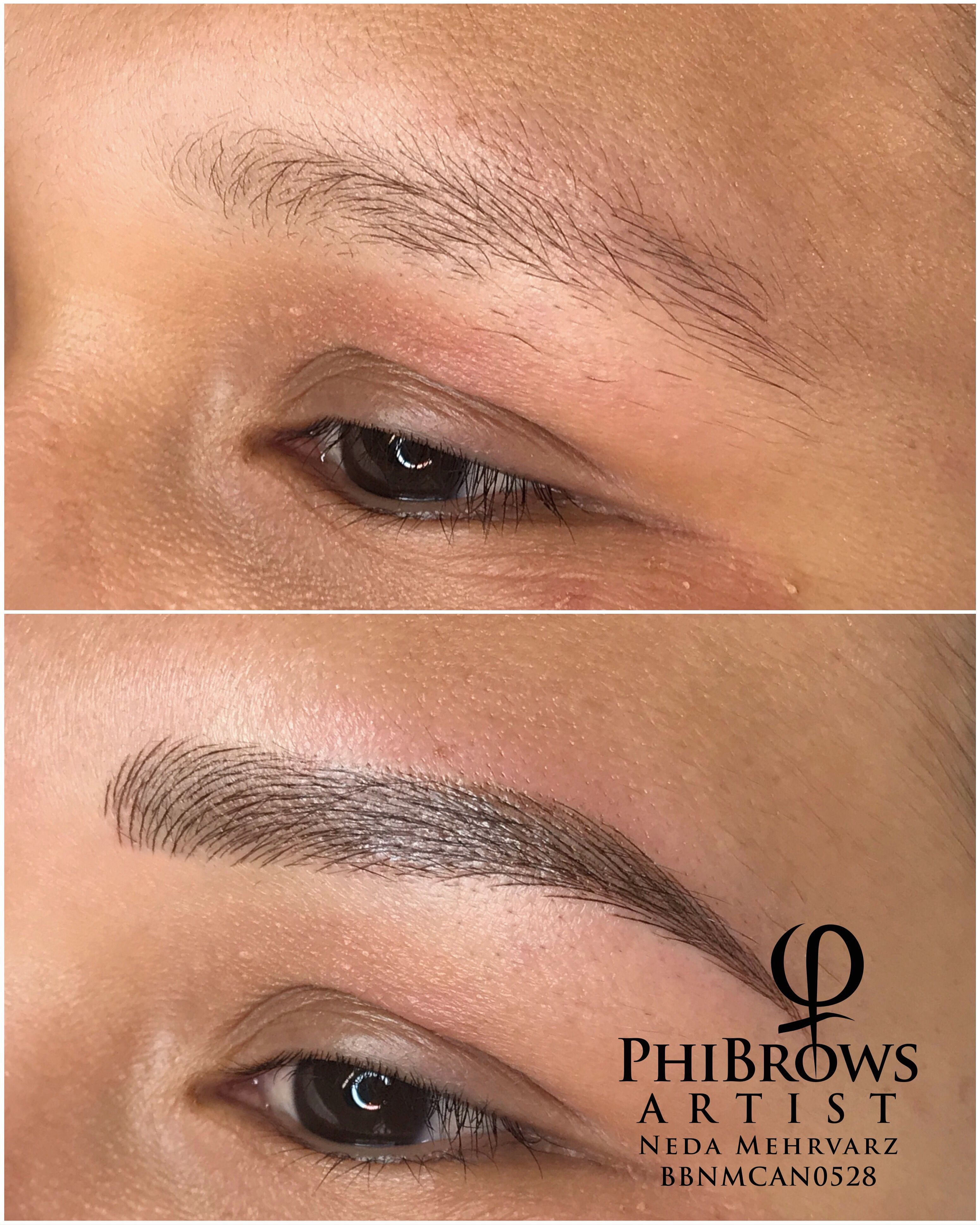 Combination of Microblading & shading techniques for this